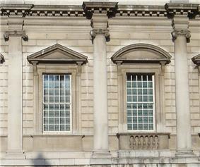 Bottom storey façade Banqueting House.JPG