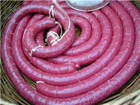 Blood sausage (Boudin noir), before cooking
