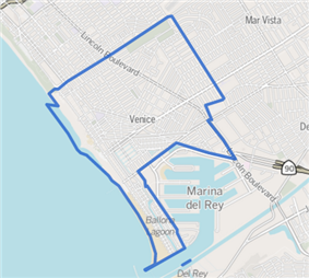Venice neighborhood as delineated by the Los Angeles Times
