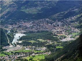 A general view of Bourg-Saint-Maurice