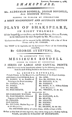 A printed prospectus that states the objectives of the Boydell project and those involved.