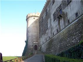 A view of the Castello Orsini-Odescalchi.