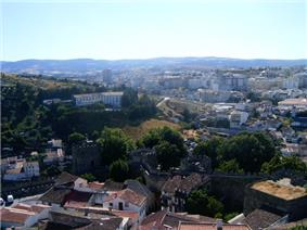 The city of Bragança seen from the castle