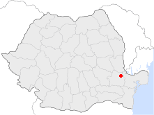 Location of Brăila