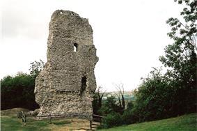 Remains of Bramber Castle, the original administrative centre of the Rape