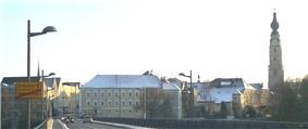 Braunau town centre, seen from the Inn bridge