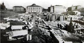 Bray Hall under construction text