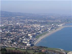 The town as seen from Bray Head
