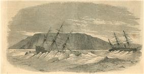 Engraving of the sinking of Breadalbane