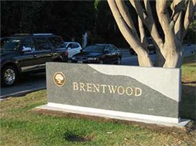 Brentwood marker sign
