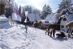 Ski resort, March 2010