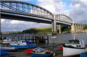 Bridges, boats and trains at Saltash..jpg