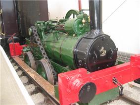 Small green steam locomotive