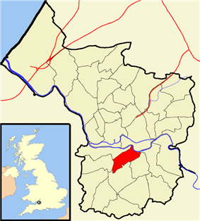 Map showing Windmill Hill ward south of the city centre