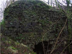 A large limekiln at Broadstone, Beith, Ayrshire.