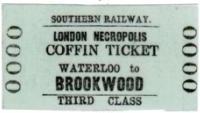 Railway ticket labelled