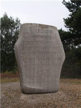 stone memorial of the first camp