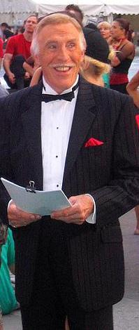 Bruce Forsyth in a tuxedo