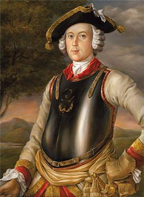 Painting of the real-life Münchhausen
