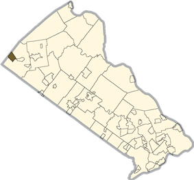 Location of Spinnerstown in Bucks County