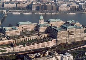 The gallery is located in a section of Buda Castle