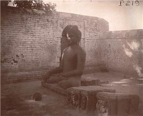 A Buddha statue at Nalanda in 1895