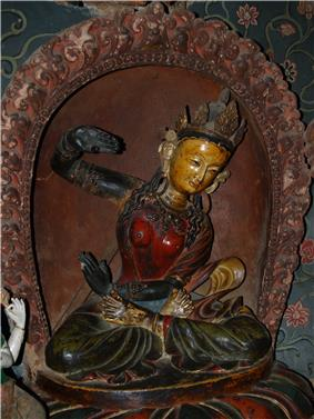 Buddhist artwork in the Pelkhor Monastery, Gyantse1.jpg