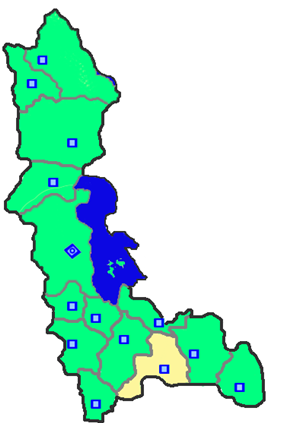 Location of Bukan County in West Azerbaijan Province.