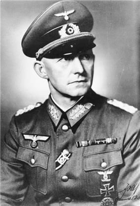a black and white portrait of Alfred Jodl in German Army dress uniform
