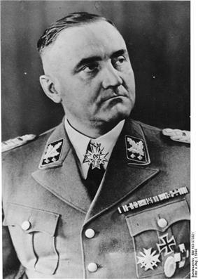 Gottlob Berger wearing Waffen-SS dress uniform