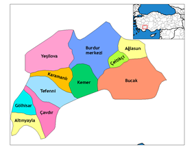 Districts of Burdur