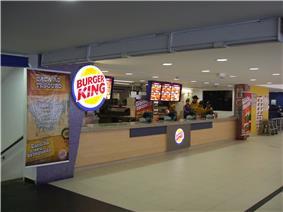 Burger King in Guaruja, Brazil