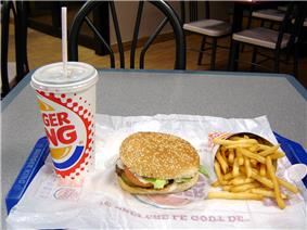 Burger King Whopper combo
