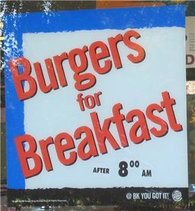 A Burger King advertisement