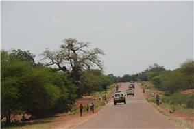 Scenery south of Fada N'gourma on the road to Benin