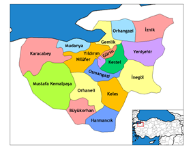 Districts of Bursa