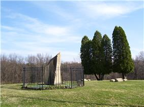 Monument at the Bushy Run Battlefield