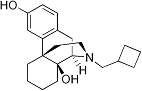 Chemical structure of Butorphanol.