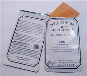 Cannabinol 10 mg transdermal patches