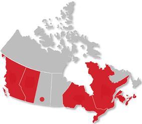 Canadian Collegiate Athletic Association locations