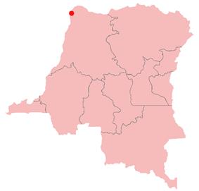 Location of Zongo in the Democratic Republic of the Congo