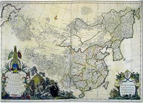 1734 map of China