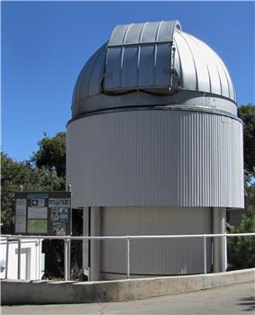 One of the six telescopes that are part of the astronomical interferometer