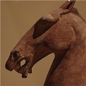 Close-up of a Han Dynasty ceramic horse
