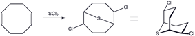 2,6-Dichloro-9-thiabicyclo[3.3.1]nonane, synthesis and reactions