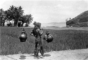 COLLECTIE TROPENMUSEUM Een verkoper van palmwijn (tuak) op Bali TMnr 10002905.jpg