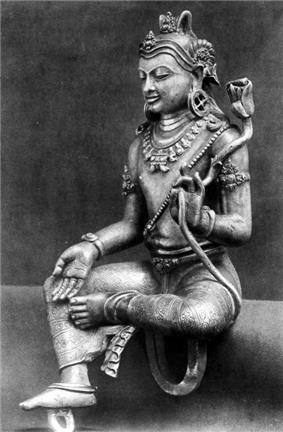 COLLECTIE TROPENMUSEUM Zilveren Manjusri beeld afkomstig uit Ngemplak Semongan TMnr 10016132.jpg