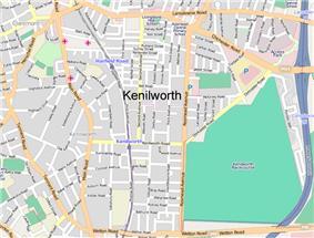 Street map of Kenilworth