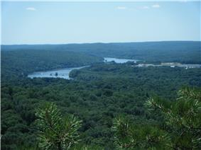 Landscape with river bends