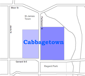 The area west of Parliament is not always considered part of Cabbagetown